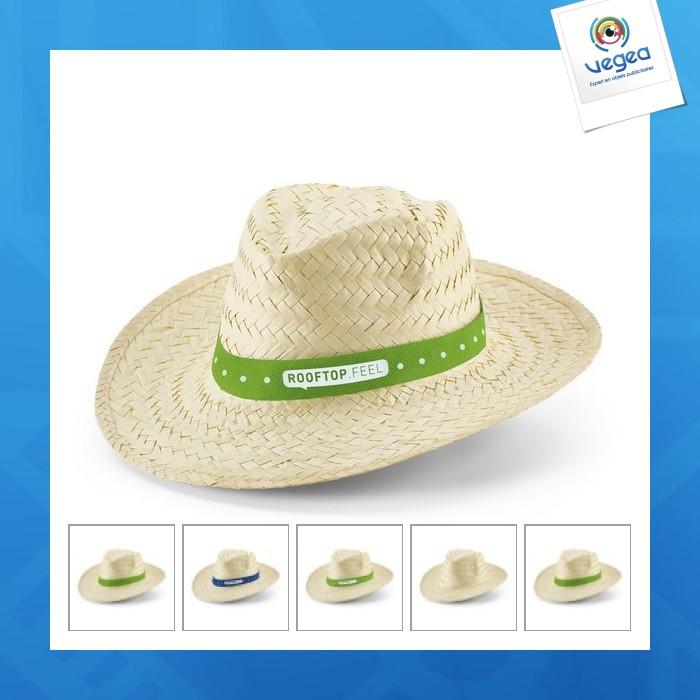 Chapeau de paille personnalisé classique