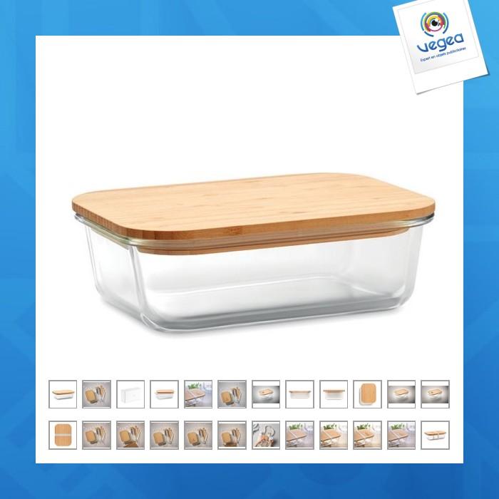 Lunchbox en verre et bambou
