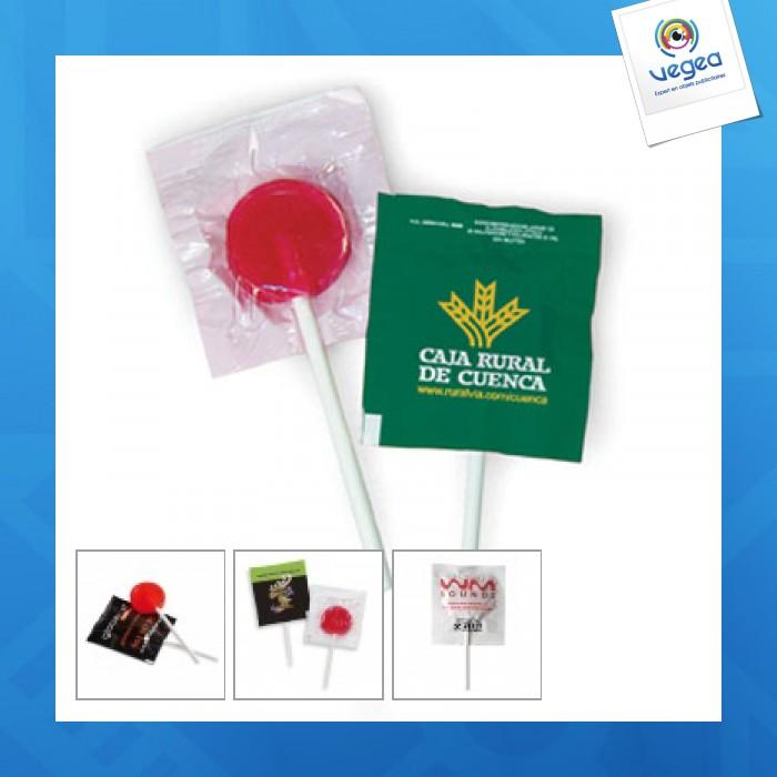 Sucette personnalisable plate lollipop 6g